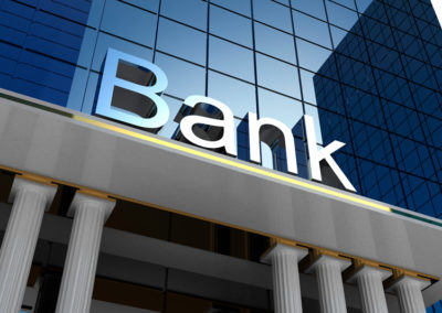 Defending a banking institution.